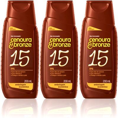 óleo bronzeador cenoura e bronze fps 15, praia, verão, pele