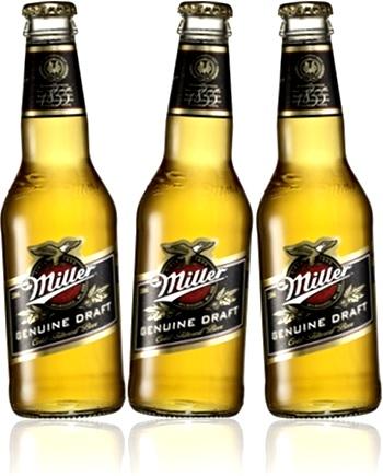 garrafa de cerveja importada miller genuine draft, beer, chopp