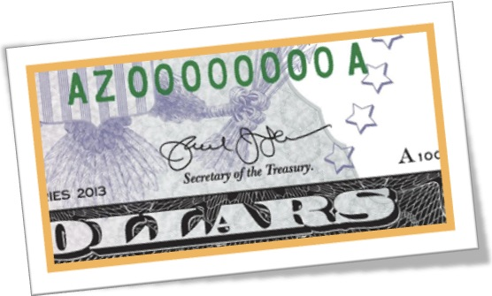 signature, secretary of the treasury, dollar, assinatura em dólar americano