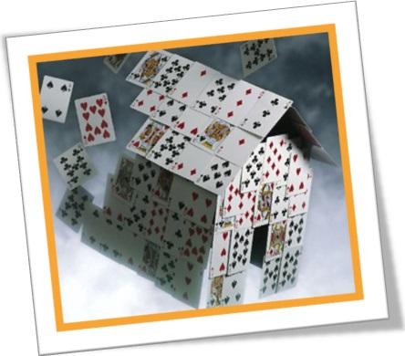 house of cards, castelo de cartas em inglês