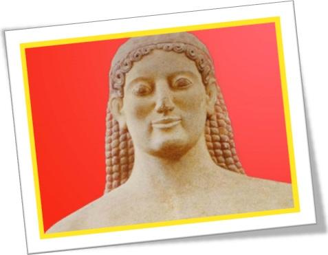 archaic smiles, kore, kouros, arte grega, estátuas, sorriso arcaico