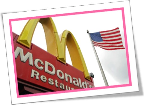 mcdonalds restaurants and the united states of america flag