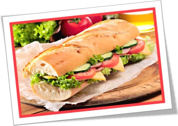 hero, submarine, sub, bomber, grinder, hoagy, torpedo, poor boy, sandwich em inglês americano