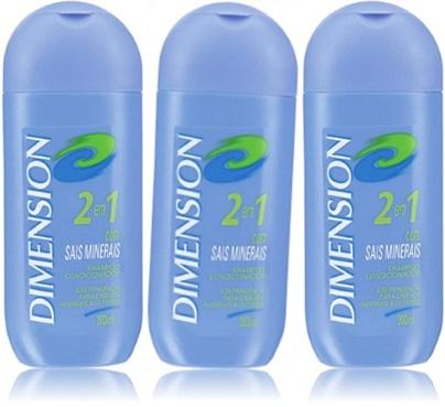 xampu, cabelos, dimension shampoo condicionador sais minerais unilever