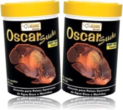oscar sticks alimento para peixes carnívoros de água doce e marinhos alcon gold