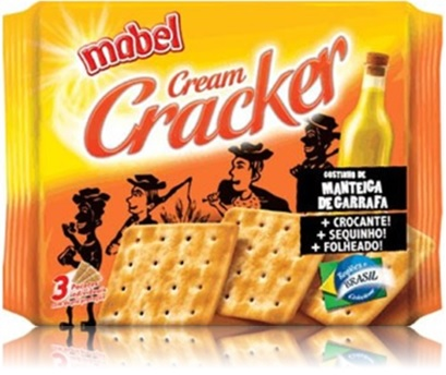 bolacha, biscoito cream cracker mabel sabor manteiga de garrafa