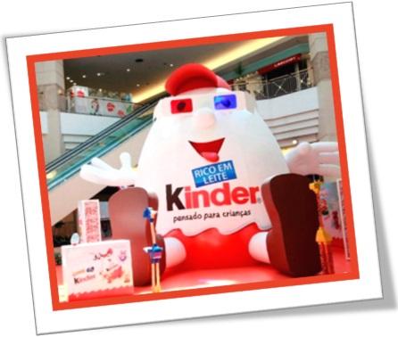 brinquedo kinder ovo, shopping center, centro comercial, pensado para crianças