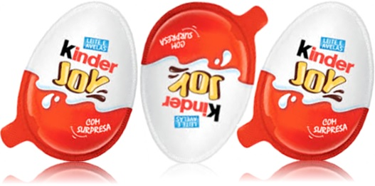 chocolate ao leite e avelãs kinder joy com surpresa
