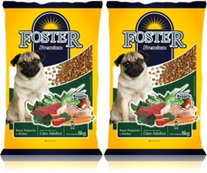 foster premium alimento para cães, carne, frango, verduras, legumes