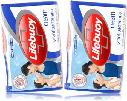 sabonete antibacteriano lifebuoy cream, bactericida, higiene pessoal, banho