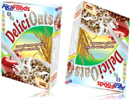 cereal com aveia maçã e canela delici oats alcafoods
