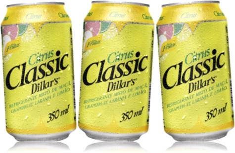 citrus classic dillars refrigerante misto de maçã, grapefruit, laranja e limão