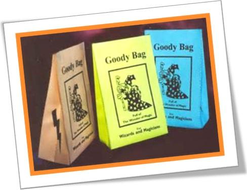 goody bag, sacolinha de surpresa, sacolinha de brindes