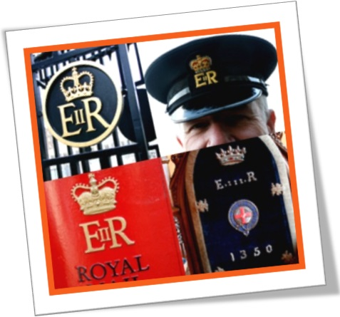 royal monogram elizabeth regina II