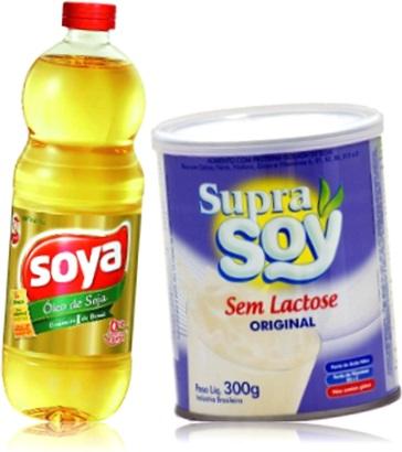 óleo de soja soya, leite de soja supra soy sem lactose
