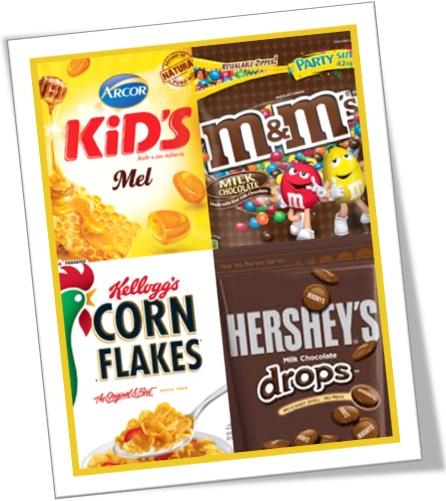 genitive case, possessive case, embalagens de produtos, arcor kid's, m&m's, kellogg's e hershey's