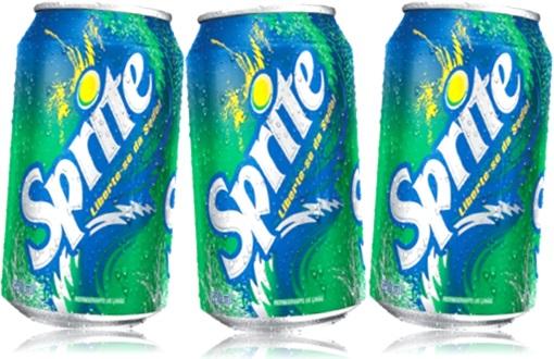 bebidas, refrigerantes, latas de refrigerante, sprite sabor limão