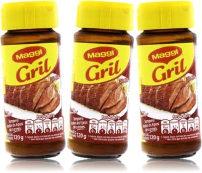 maggi gril nestlé tempero para todos os tipos de carne