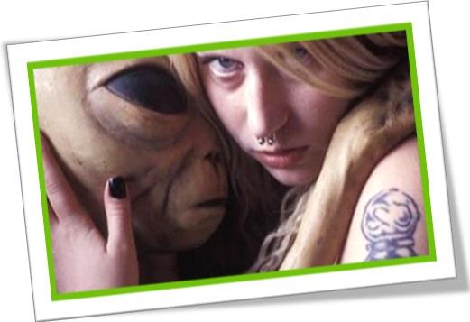 extraterrestre, et, mulher, elienígena, extraterreno, ser humano