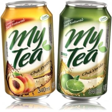 my tea chá preto com pêssego e my tea chá verde com limão