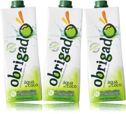 hidratação, produto natural, obrigado água de coco sem açúcar e conservadores