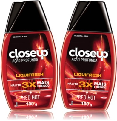 past de dente, red hot gel dental close up ação profunda liquifresh