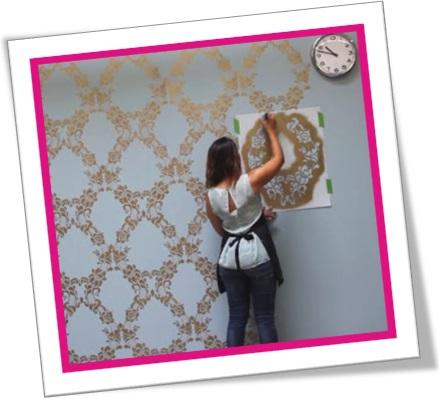 how to stencil a feature wall, decoração, estêncil