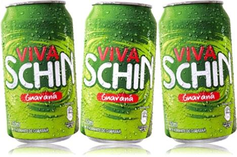 latas de refrigerante viva schin guaraná, brasil kirin