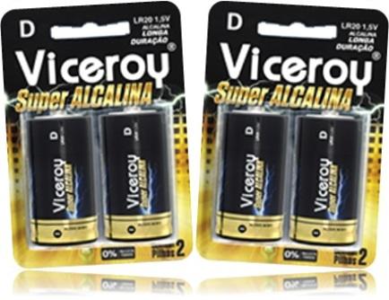 viceroy pilha bateria super alcalina de longa duração
