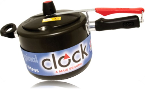 clock panela de pressão, antiaderente, cozinha, fogão, cozimento, alumínio