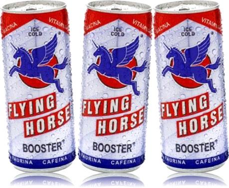 bebida energética, flying horse booster enery drink taurina cafeína