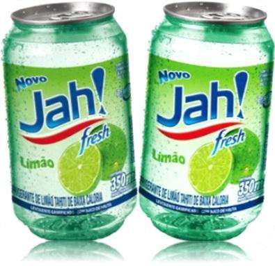 jah refrigerante de limão fresh de baixa caloria
