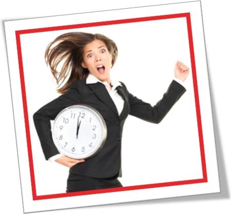 work against the clock, trabalhar contra o relógio