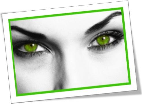 the green eyed monster, o ciúme, a inveja, mulher, olhos verdes