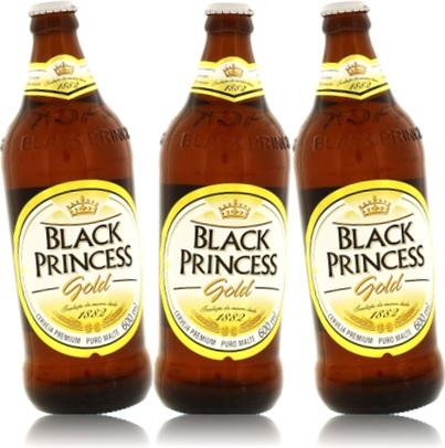garrafas de cervejas black princess, cerveja escura premium, cerveja preta