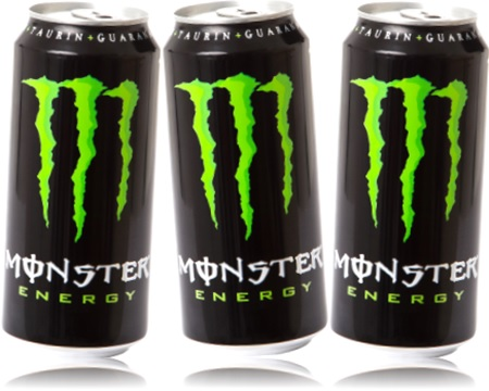 energy drink monster, bebida energética monster, taurina, ginseng, guaraná