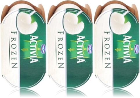 leite fermentado danone activia frozen, alimentação
