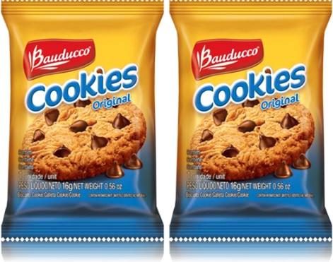 biscoito chocolate cookies original bauducco, bolacha, doce