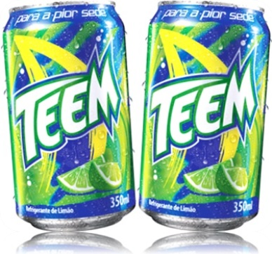 latas de refrigerante teem sabor limão para pior sede