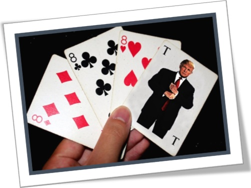 trump card, trunfo, donald trump no baralho