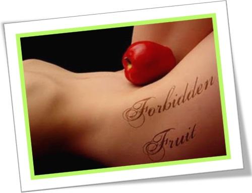 forbidden fruit, fruto proibido, maçã, apple, mulher nua