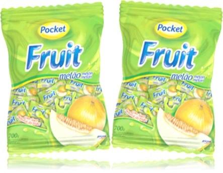 balas duras pocket fruit riclan sabor melão melon fruta