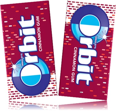 goma de mascar orbit cinnamon gum chiclete