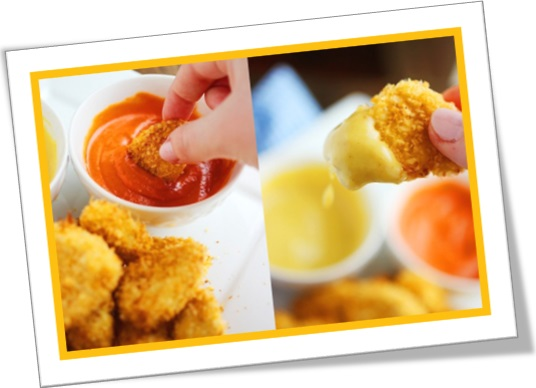 chicken nuggets, chicken dippers, empanados de frango