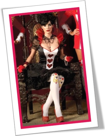queen of hearts, rainha de copas, girl of hearts, costume
