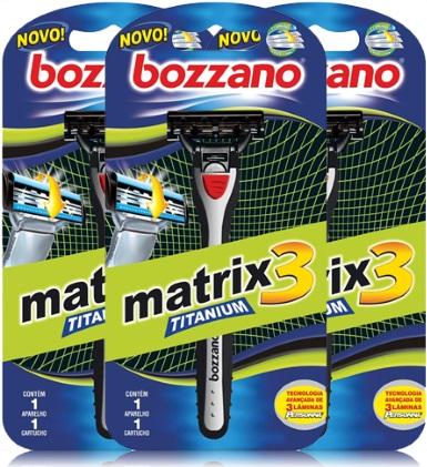aparelho e lâmina de barbear bozzano matrix titanium 3, barba, cabelo e bigode