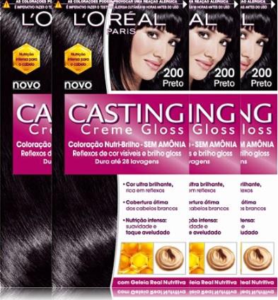 coloração casting creme gloss sem amônia, tintura, tinta, cabelo