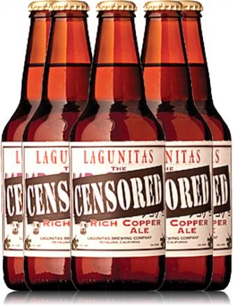 cerveja, lagunitas censored rich copper ale bottles