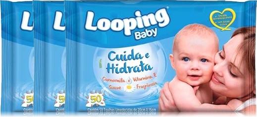 lenço umedecidos looping baby, grupo carta fabril