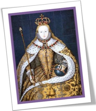 rainha elizabeth isabel em trajes de coroação